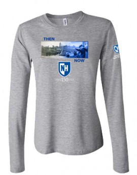 UNH THEN & NOW: COMMENCEMENT TEE LADIES LONGSLEEVE