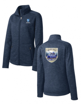 UNH 150TH ANNIVERSARY LADIES DIGI STRIPE FLEECE JACKET
