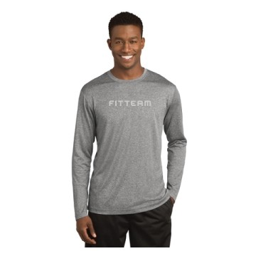 FITTEAM MEN'S LONGSLEEVE HEATHERED DRI FIT SHIRTS