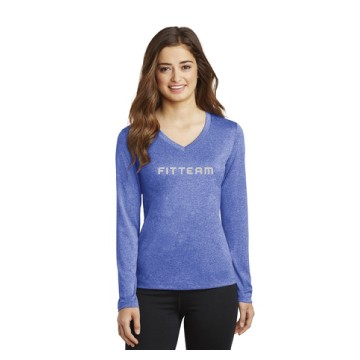 Ladies Long Sleeve Heather Contender™ V-Neck Tee