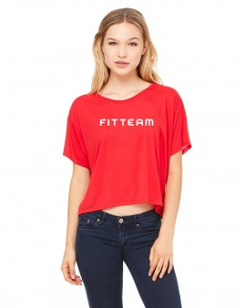FITTEAM Ladies' Flowy Boxy T-Shirt