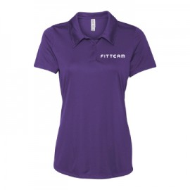 FITTEAM Women's Performance 3-Button Mesh Golf Shirt  MANY COLOR CHOICES INSIDE