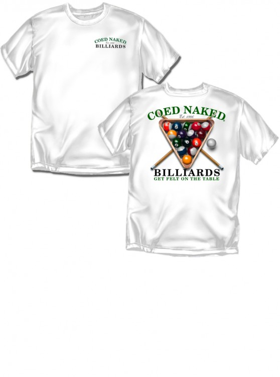 Coed Naked® Billiards, Authentic