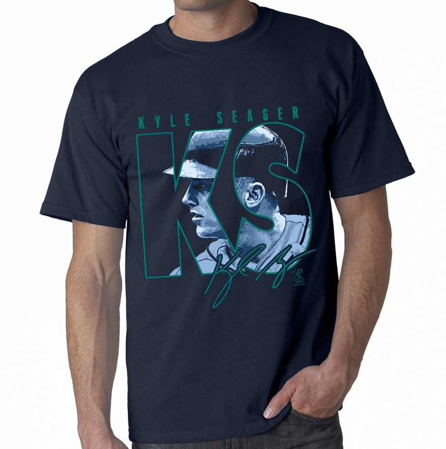 "Seattle- Seager ""Initials"" T-Shirt"