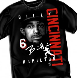 "Cincinnati Billy Hamilton ""Signature"" Tee"