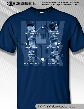NEW YORK STACKED TEAM SHIRT FEATURING AROD, TEX,