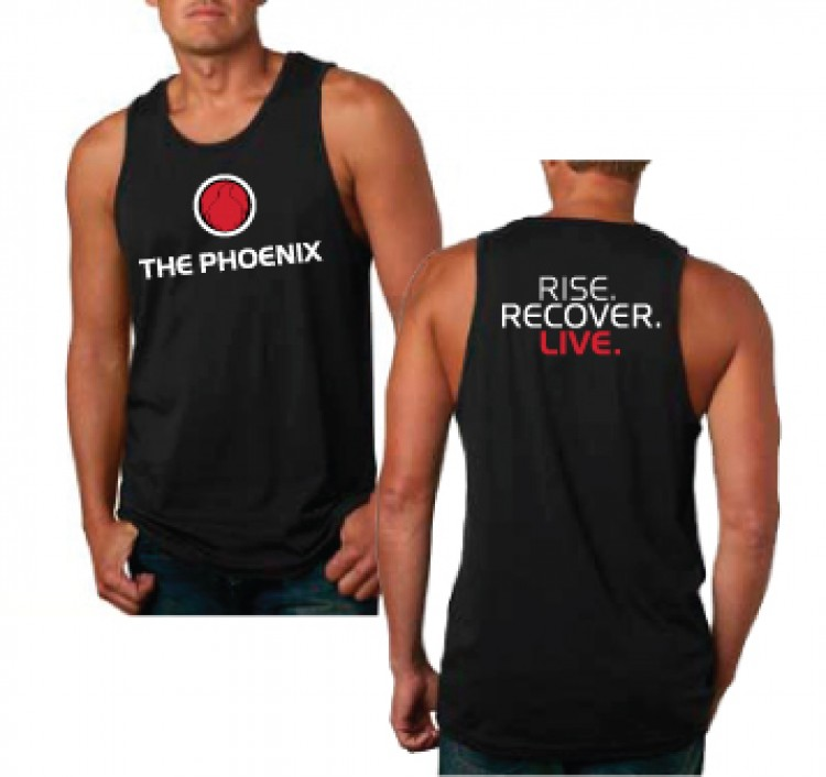 THE PHOENIX RISE RECOVER LIVE MENS TANK