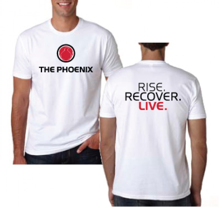 THE PHOENIX RISE RECOVER LIVE MENS WHITE TEE