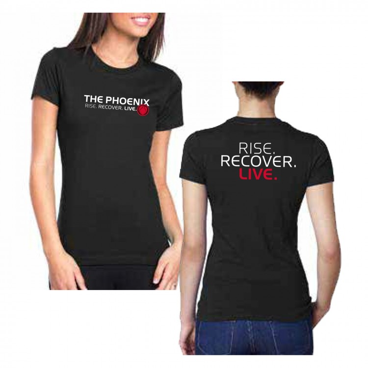 THE PHOENIX RISE RECOVER LIVE WOMENS TEE