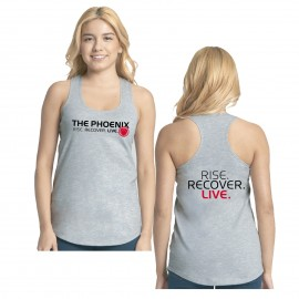 THE PHOENIX RISE RECOVER LIVE WOMENS GREY TANK