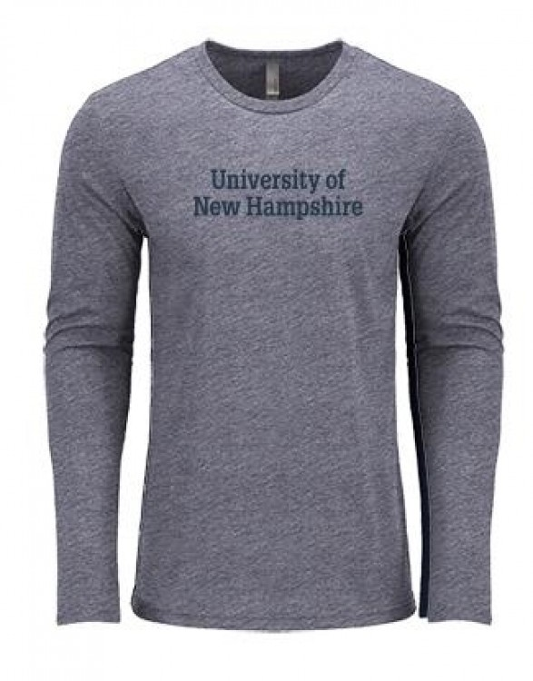 cac671c61 UNH STACKED UNISEX TRIBLEND LONG SLEEVE. Tap to expand