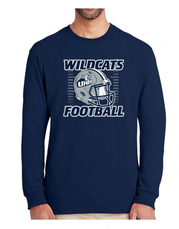 UNH WILDCATS FOOTBALL HELMET UNISEX LONG SLEEVE TEE