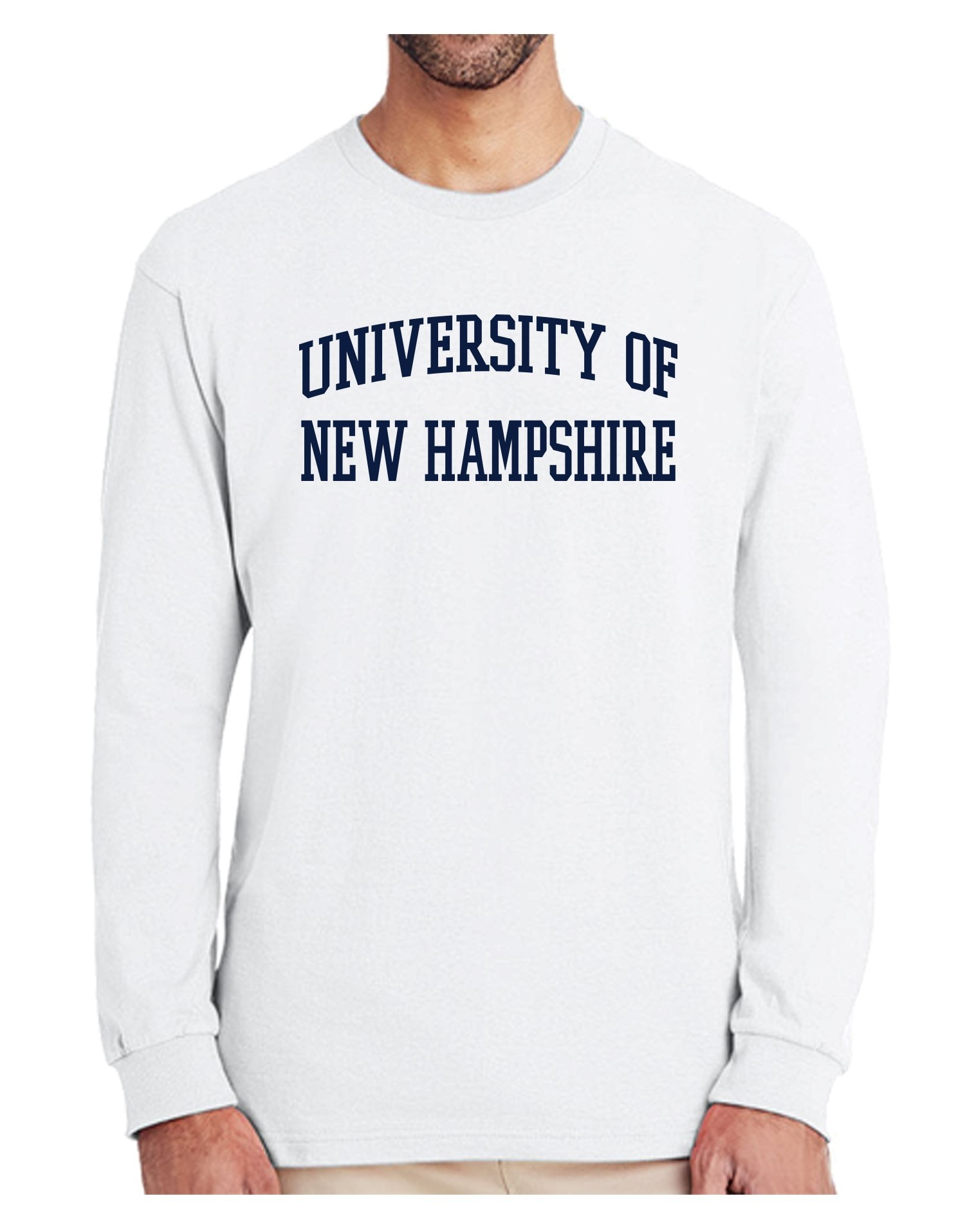 6355c2f44 UNH TEXT UNISEX LONG SLEEVE TEE - Long Sleeve - Men's Apparel