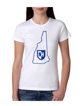 UNH STATE OUTLINE WOMEN'S TEE