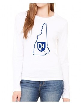 UNH STATE OUTLINE WOMEN'S LONG SLEEVE