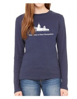 UNH BUILDING SILHOUETTE WOMEN'S LONG SLEEVE