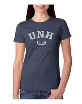 UNH 1866 DISTRESSED WOMEN'S COTTON TEE
