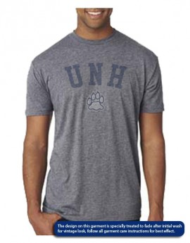 UNH VINTAGE PAW UNISEX TRIBLEND TEE