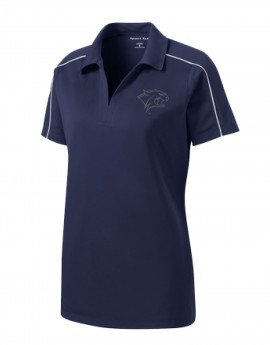 UNH REFLECTIVE WILDCAT HEAD WOMEN'S SPORT POLO