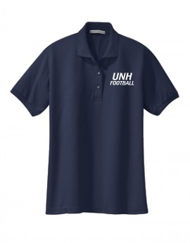 UNH FOOTBALL WOMEN'S SILK TOUCH POLO