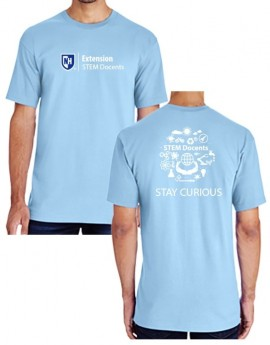 UNH STEM DOCENTS STAY CURIOUS MEN'S TEE