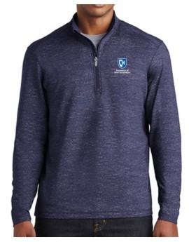 UNH MEN'S REFLECTIVE HEATHER 1/2 ZIP PULLOVER