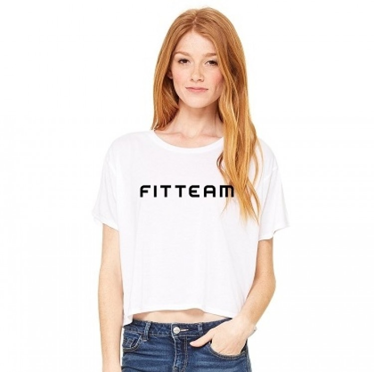 FITTEAM LADIES FLOWY BOXY T-SHIRT