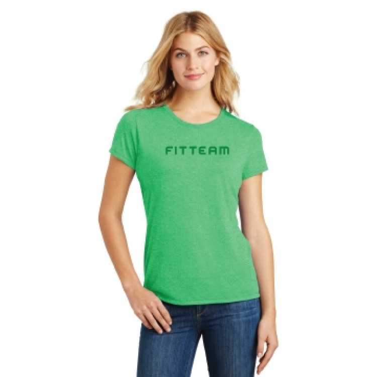 FITTEAM LADIES PERFECT TRI CREW TEE