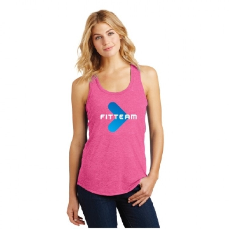 FITTEAM LADIES PERFECT TRI RACER BACK TANK