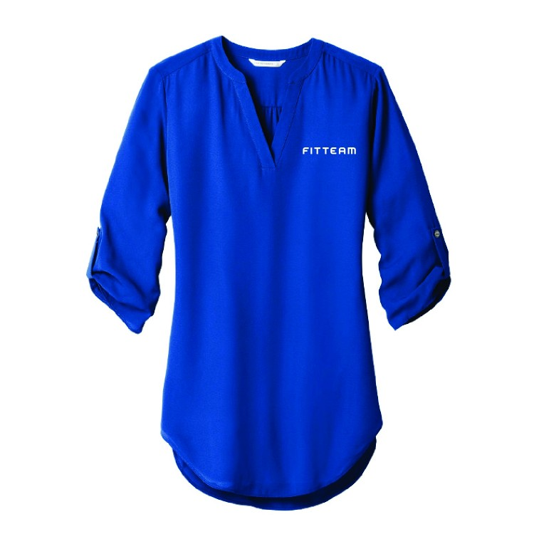 FITTEAM Ladies 3/4-Sleeve Tunic Blouse