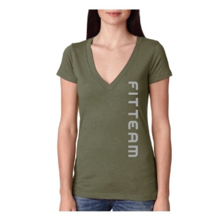 FITTEAM DEEP V-NECK TRI-BLEND