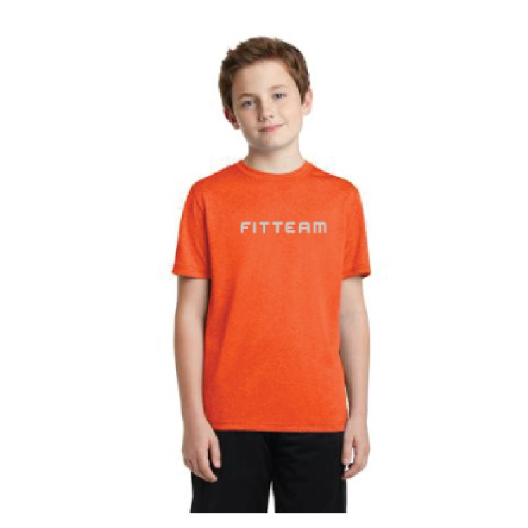 FITTEAM YOUTH HEATHER CONTENDER TEE