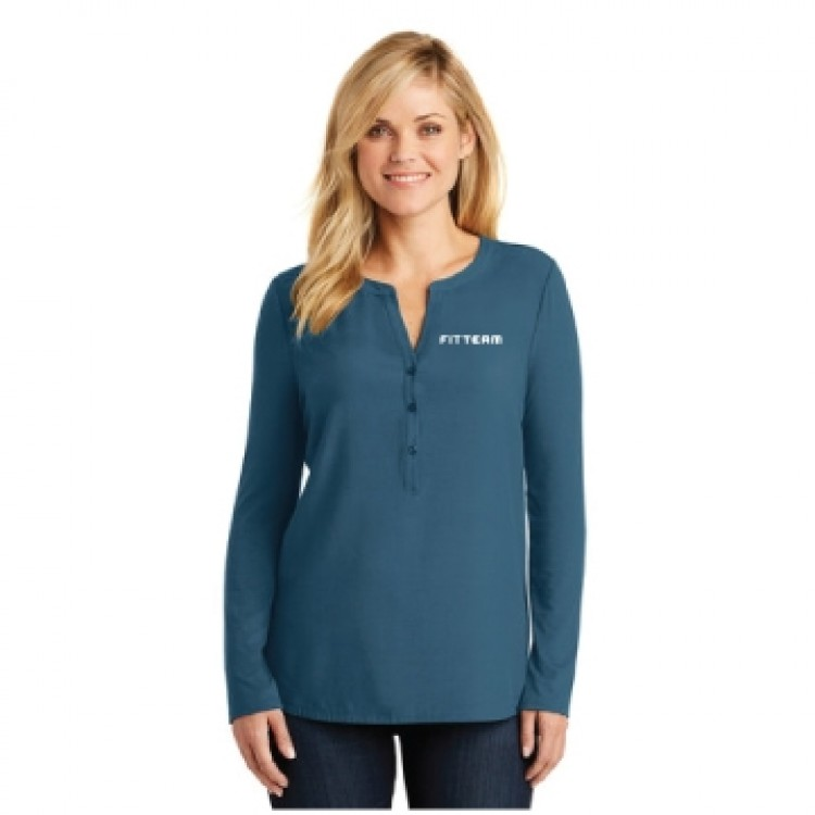FITTEAM LADIES CONCEPT HENLEY TUNIC