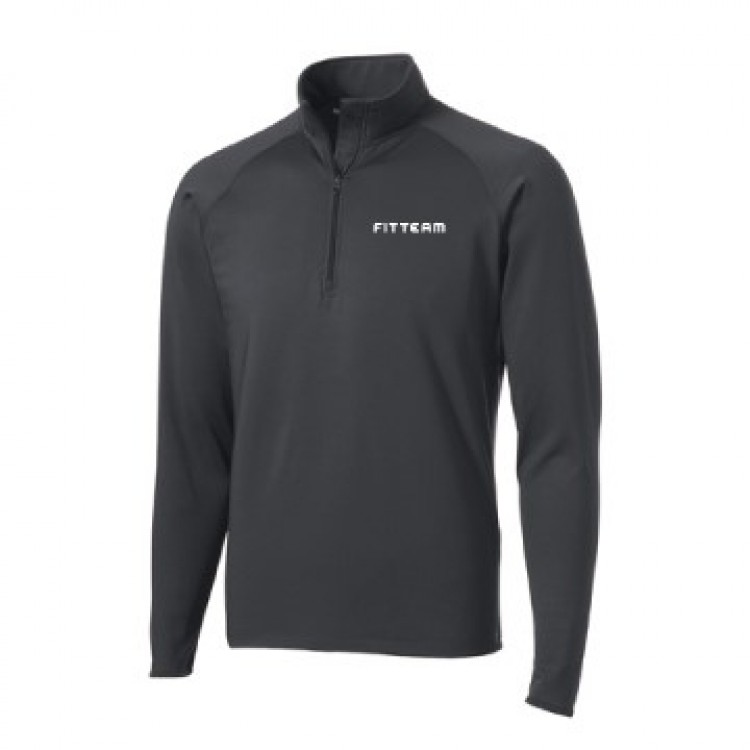 FITTEAM MEN'S SPORT WICK STRETCH 1/2 ZIP PULLOVER