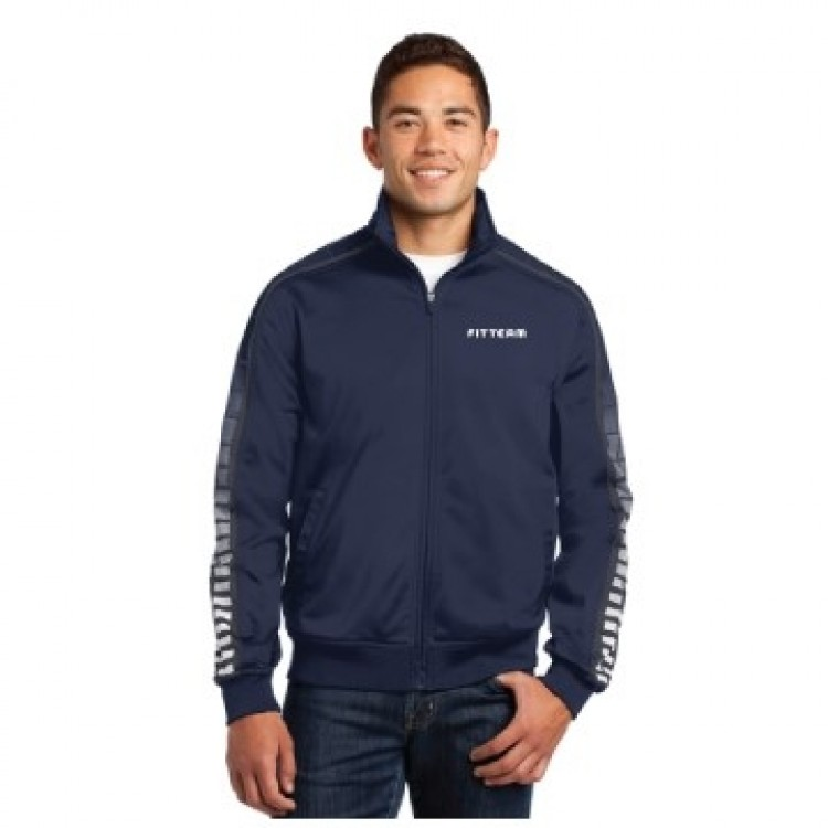 FITTEAM MEN'S DOT SUBLIMATION TRICOT TRACK JACKET