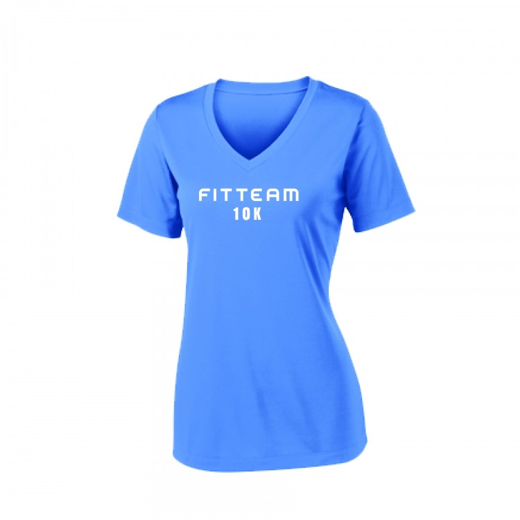 FITTEAM 10K WOMEN'S V-NECK DRI-FIT T-SHIRT