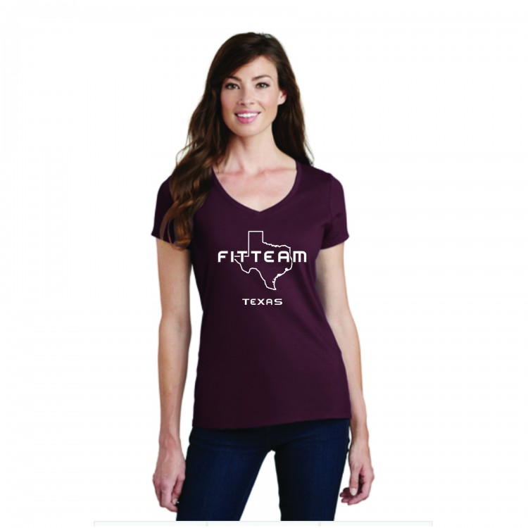 FITTEAM TEXAS V-NECK T-SHIRT.  (PC450V)