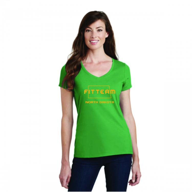 FITTEAM NORTH DAKOTA V-NECK T-SHIRT