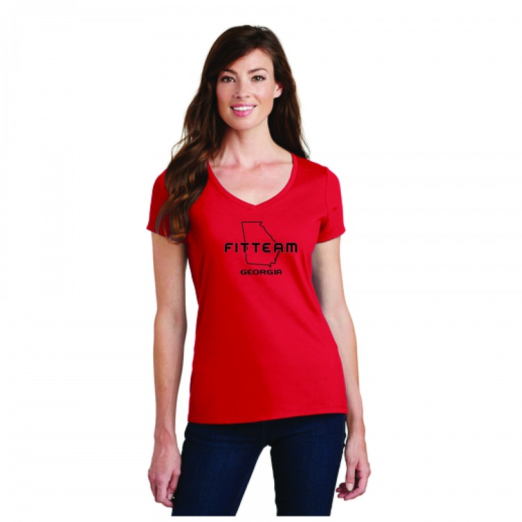 FITTEAM GEORGIA WOMEN'S V-NECK T-SHIRT