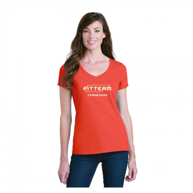 FITTEAM TENNESSEE, WOMEN'S V-NECK T-SHIRT
