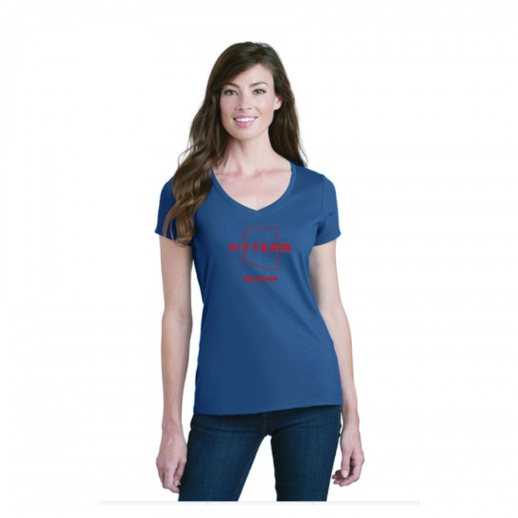 FITTEAM ARIZONA, WOMEN'S V-NECK T-SHIRT