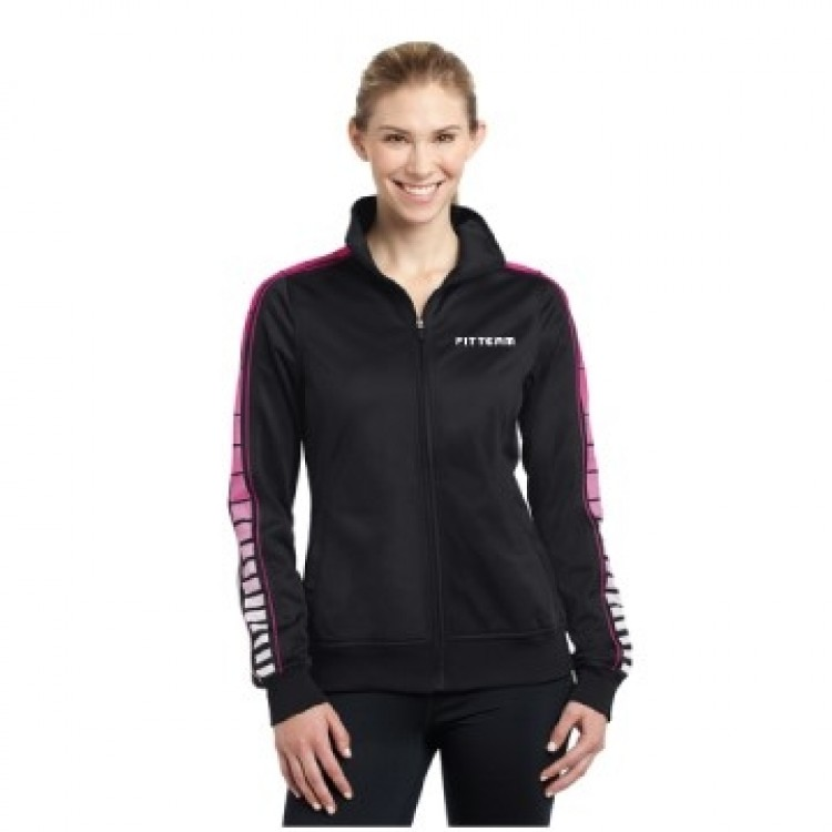 FITTEAM LADIES DOT SUBLIMATION TRICOT TRACK JACKET