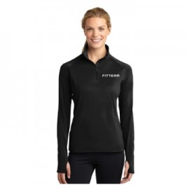 FITTEAM LADIES SPORT-WICK STRETCH 1/2 ZIP PULLOVER