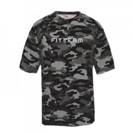 FITTEAM ADULT CAMO SHORT SLEEVE T-SHIRT