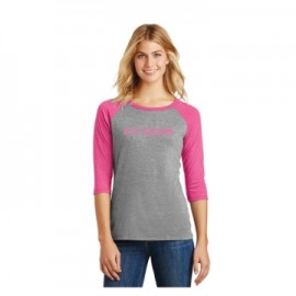 FITTEAM'S LADIES TRI BLEND RAGLAN