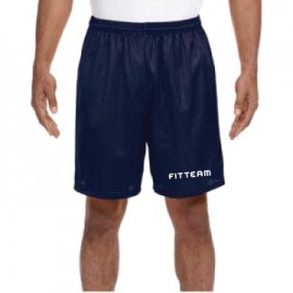 FITTEAM ADULT SEVEN INCH INSEAM MESH SHORTS