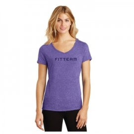 FITTEAM LADIES PERFECT TRI V-NECK TEE