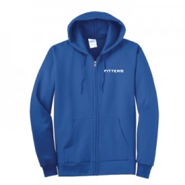 FITTEAM FLEECE FULL ZIP HOODED SWEATSHIRT