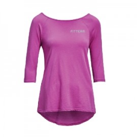 FITTEAM WOMEN'S 3/4 SLEEVE CROSS BACK TEE