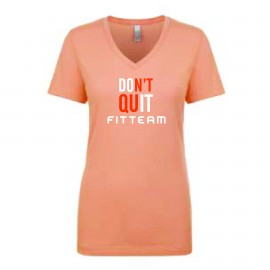FITTEAM DON'T QUIT WOMEN'S V-NECK NL1540
